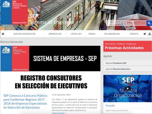 SEP Chile – Portal