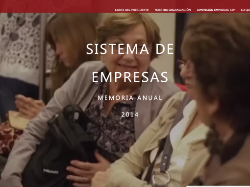 SEP Chile – Memoria 2014 Web