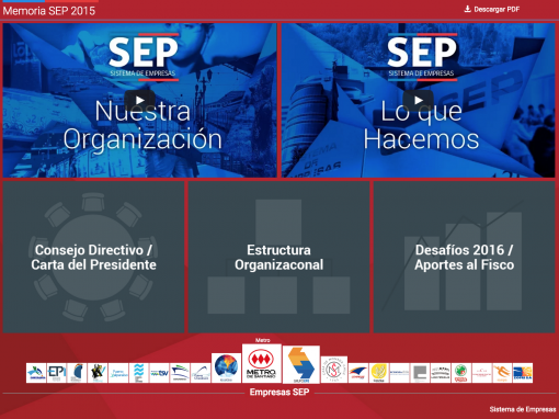 SEP Chile – Memoria 2015 Web